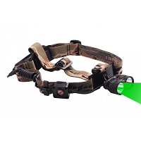 Hunting Headlamp with Green and White LED Lights