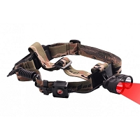 Hunting Headlamp with Red and White LED Lights