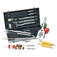 19pc Stainless Steel Barbecue Tool Set
