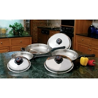 6pc Stainless Steel Fry Pan Set