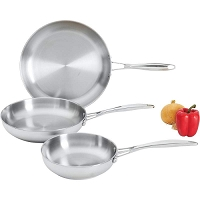 3pc Stainless Steel Fry pan Set