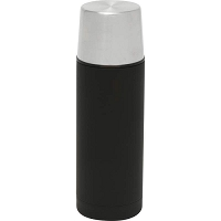 Black Stainless Steel Drink Bottle with Cup