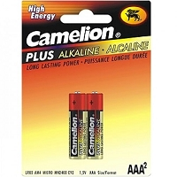 2 Pack AAA Plus Alkaline Batteries