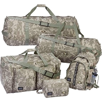 Camo Water Resistant 5pc Luggage Set