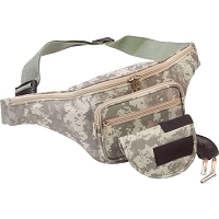 Digital Camo Conceal Carry Waist Bag