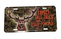Expect Tall Tales Big Racks License Plate