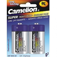 2 Pack Alkaline Heavy Duty D Batteries