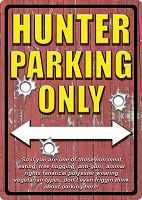 Hunter Parking Only Metal Sign