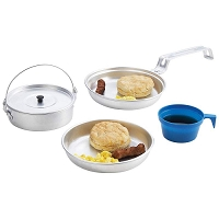 4pc Personal Aluminum Camping Mess Kit