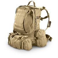 Tactical Ops Backpack with Waist Packs