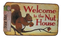 Welcome to the Nut House Door Mat