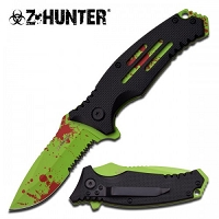 Hunter Spring Assisted Knife Green