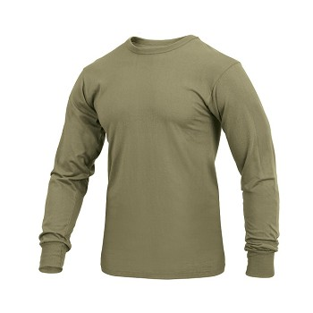 Coyote Brown Solid Color Long Sleeve Shirt