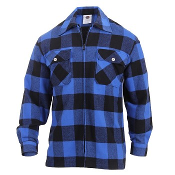 Blue Concealed Carry Flannel Shirt