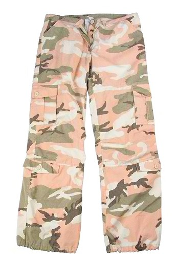 Womens Pink Camo Fatigue Pants