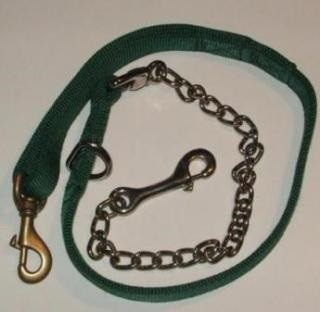 "1 ply 50"" Dog Leash - 30"" nylon - 20"" Chain"