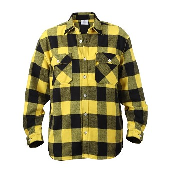 Yellow Extra Heavyweight Plaid Flannel Shirt
