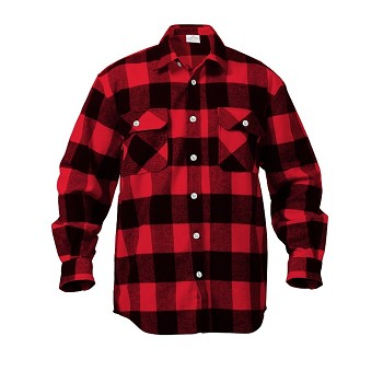 Red Extra Heavyweight Plaid Flannel Shirt