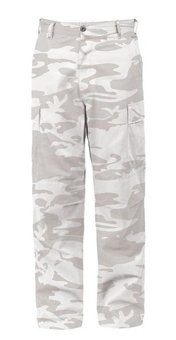White Camo Tactical BDU Pants