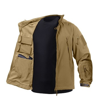 Brown Concealed Carry Soft Shell Jacket
