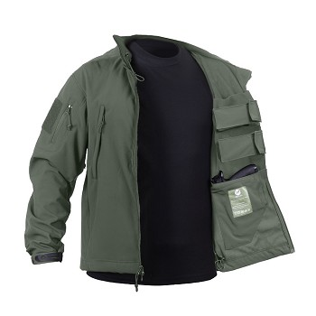 Olive Drab Concealed Carry Soft Shell Jacket