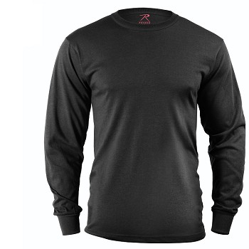 Black Solid Color Long Sleeve Shirt