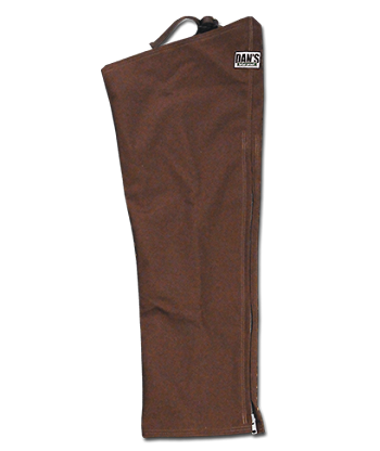 Unlined Brown Briarproof Hunting Chaps