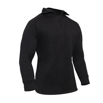 Black Cold Weather Poly Zip Collar Shirt