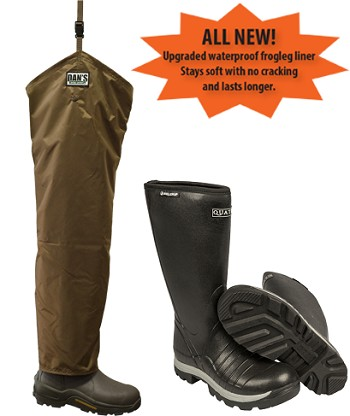 Quatro Insulated Boots with Brush Buster Chap Froglegs