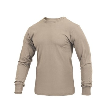 Desert Sand Solid Color Long Sleeve Shirt