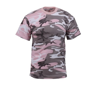 Classic Subdued Pink Woodland Camo T-Shirt