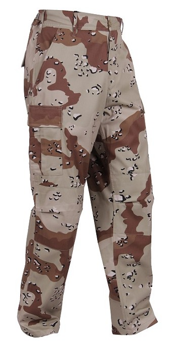 6 Color Desert Camo Tactical BDU Pants