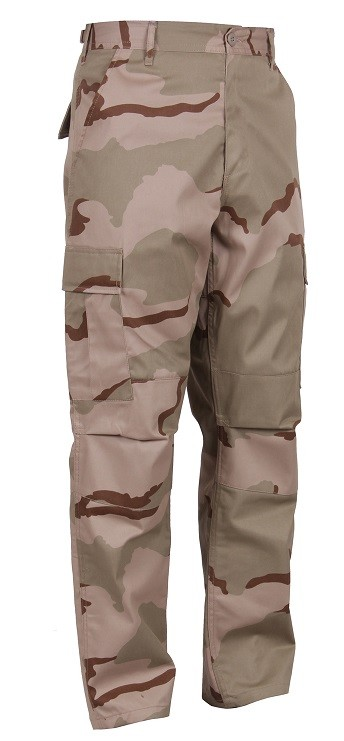 3 Color Desert Camo Tactical BDU Pants
