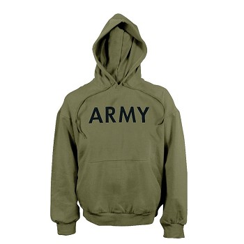Army Olive Drab Pullover Hooded Sweatshirt