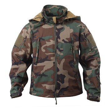 Woodland Camo Special Ops Soft Shell Jacket