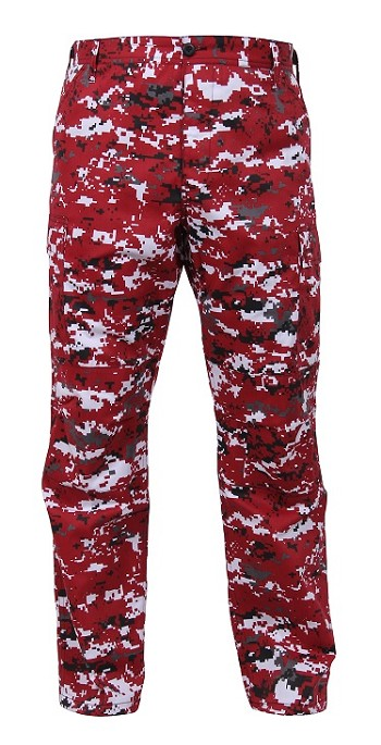Red Digital Camo Tactical BDU Pants