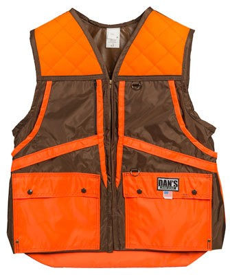 Brown/Orange Hunting Vest with Game Bag