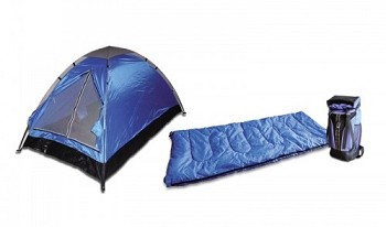 3 Piece 1 Person Camping Gear Set