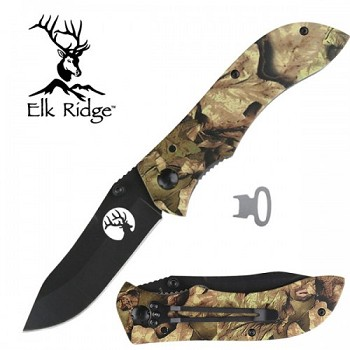 Camo Liner Lock Knife