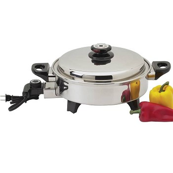 Precise Heat 3.5qt Stainless Steel Oil Core Skillet