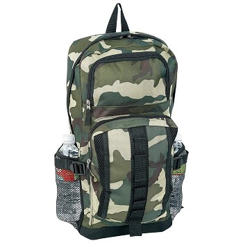 Camouflage Backpack with Bottle Holders