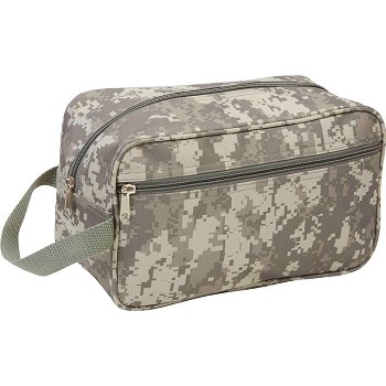 "Camo Water Resistant 11"" Travel Bag"