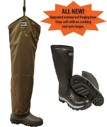 Quatro Non-Insulated Boots with Brush Buster Chap Froglegs