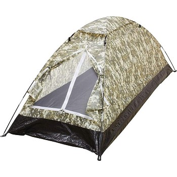 Extra Long 1 Person Camo Tent